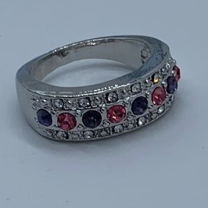 NEW size 9 pink and purple fashion engagement ring